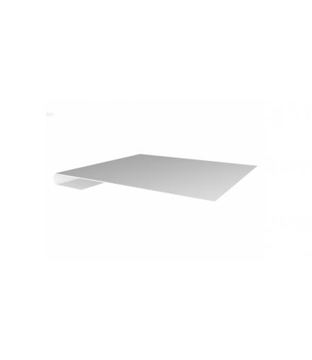 Планка завершающая 0,4 PE с пленкой RAL 9003 сигнальный белый