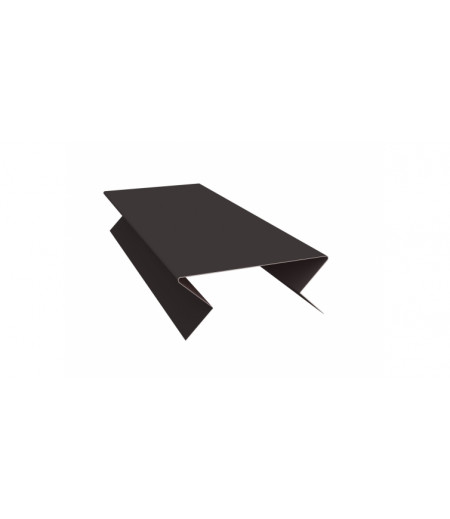 Планка угла внешнего составная нижняя 0,4 PE с пленкой RAL 8017 шоколад
