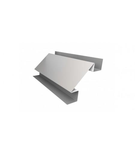 Планка угла внутреннего сложного Экобрус 0,5 Satin с пленкой RAL 9003 сигнальный белый