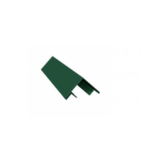 Планка угла внешнего составная верхняя 0,45 PE с пленкой RAL 6005 зеленый мох