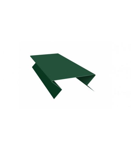 Планка угла внешнего составная нижняя 0,45 PE с пленкой RAL 6005 зеленый мох