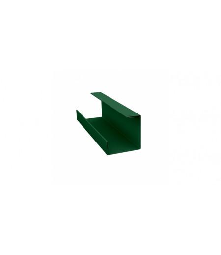 Планка угла внутреннего составная нижняя 0,45 PE с пленкой RAL 6005 зеленый мох