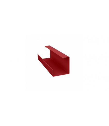 Планка угла внутреннего составная нижняя 0,45 PE с пленкой RAL 3011 коричнево-красный