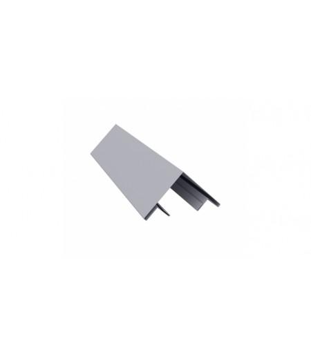 Планка угла внешнего составная верхняя 0,45 PE с пленкой RAL 7004 сигнальный серый