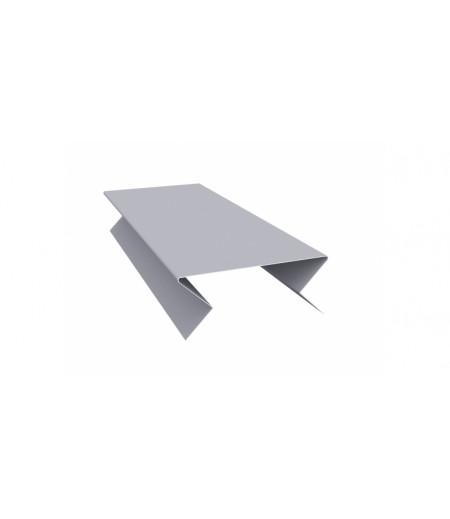 Планка угла внешнего составная нижняя 0,45 PE с пленкой RAL 7004 сигнальный серый