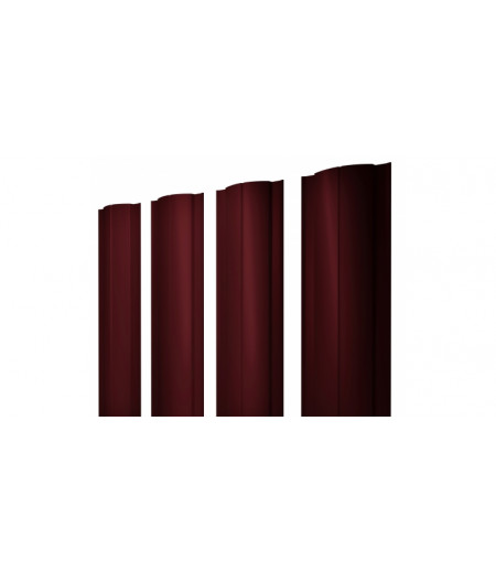 Штакетник Круглый 0,45 PE-Double RAL 3005 красное вино
