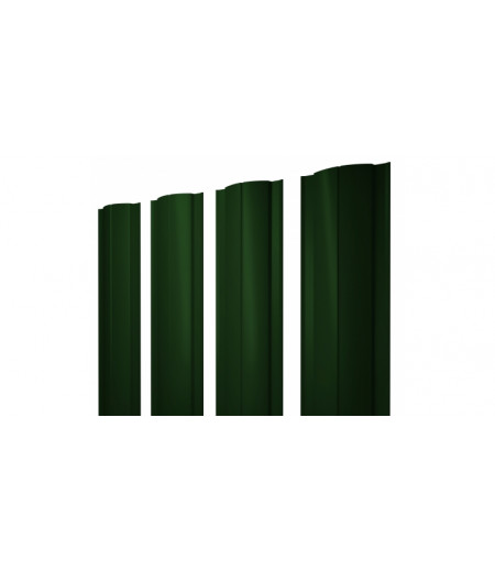 Штакетник Круглый 0,45 PE-Double RAL 6005 зеленый мох
