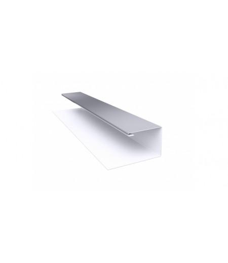 Планка П-образная (Блок-хаус, Экобрус) 0,5 Satin с пленкой RAL 7004 сигнальный серый