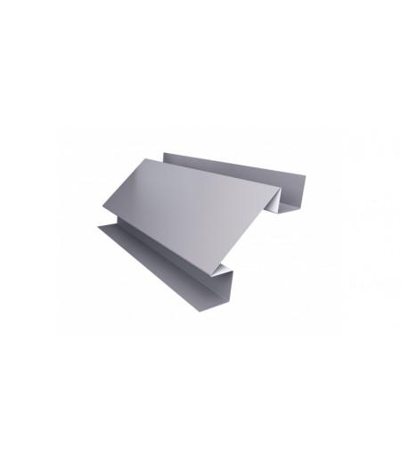 Планка угла внутреннего сложного Экобрус 0,5 Satin с пленкой RAL 7004 сигнальный серый