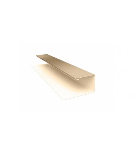 Планка П-образная (Блок-хаус, Экобрус) 0,5 Satin с пленкой RAL 1015 светлая слоновая кость