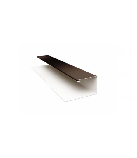 Планка П-образная (Блок-хаус, Экобрус) 0,5 Satin с пленкой RR 32 темно-коричневый