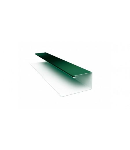 Планка П-образная (Блок-хаус, Экобрус) 0,5 Satin с пленкой RAL 6005 зеленый мох