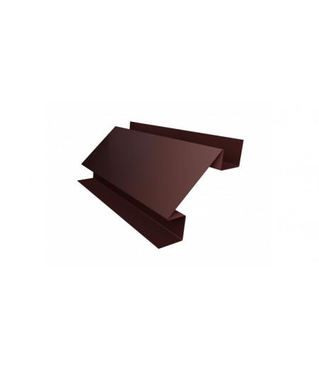Планка угла внутреннего сложного Экобрус 0,5 Satin с пленкой RAL 8017 шоколад