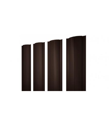 Штакетник Круглый 0,45 PE RAL 8017 шоколад