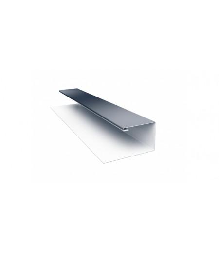 Планка П-образная (Блок-хаус, Экобрус) 0,5 Satin с пленкой RAL 7024 мокрый асфальт