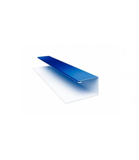 Планка П-образная (Блок-хаус, Экобрус) 0,5 Satin с пленкой RAL 5005 сигнальный синий