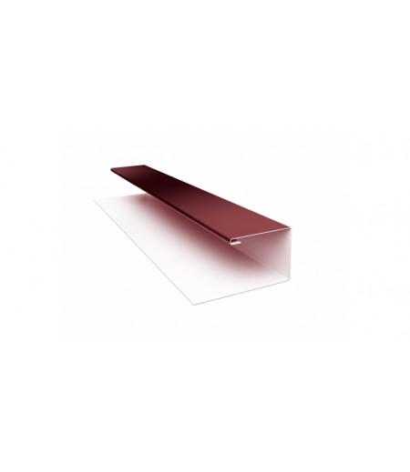 Планка П-образная (Блок-хаус, Экобрус) 0,5 Satin с пленкой RAL 3005 красное вино