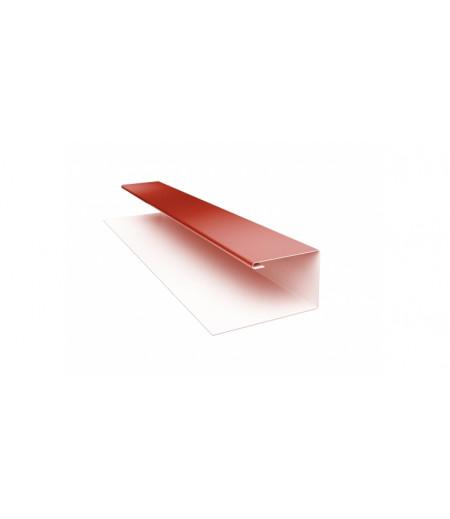 Планка П-образная (Блок-хаус, Экобрус) 0,5 Satin с пленкой RAL 8004 терракота