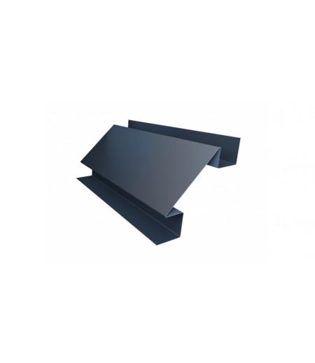Планка угла внутреннего сложного Экобрус GL 0,5 Quarzit с пленкой RAL 7024 мокрый асфальт