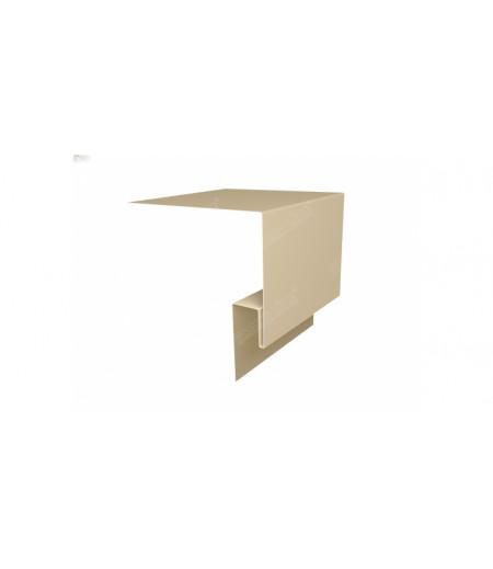 Планка околооконная сложная (Блок-хаус, Экобрус) Grand Line 250х75х23 0,5 Satin с пленкой RAL 1015 светлая слоновая кость