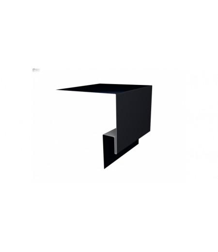 Планка околооконная сложная (Блок-хаус, Экобрус) Grand Line 250х50х23 0,5 Quarzit lite с пленкой RAL 9005 черный