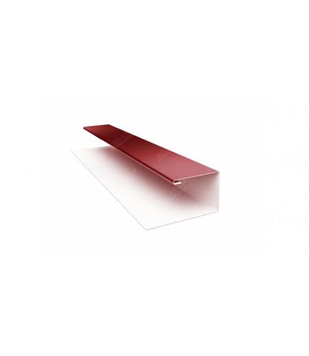 Планка П-образная (Блок-хаус, Экобрус) 0,5 Satin с пленкой RAL 3009 оксидно-красный
