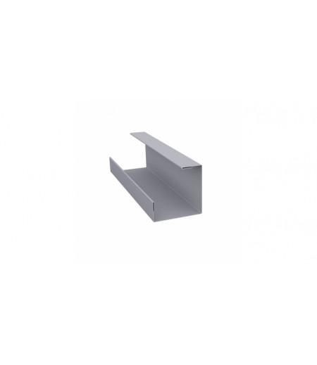 Планка угла внутреннего составная нижняя 0,45 PE с пленкой RAL 7004 сигнальный серый