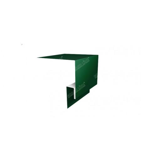 Планка околооконная сложная 250х50х18 (j-фаска) 0,45 PE с пленкой RAL 6005 зеленый мох