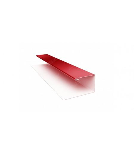 Планка П-образная (Блок-хаус, Экобрус) 0,5 Satin с пленкой RAL 3011 коричнево-красный