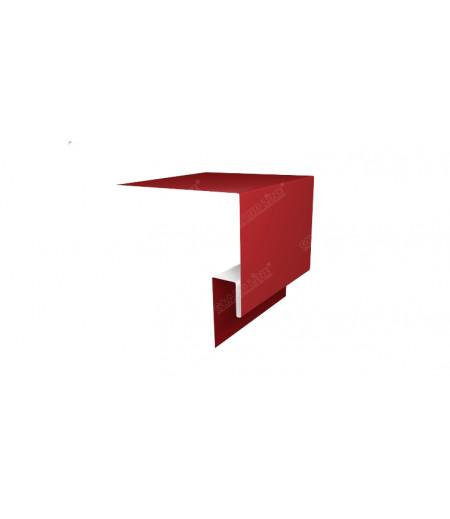 Планка околооконная сложная 250х50х18 (j-фаска) 0,45 PE с пленкой RAL 3003 рубиново-красный