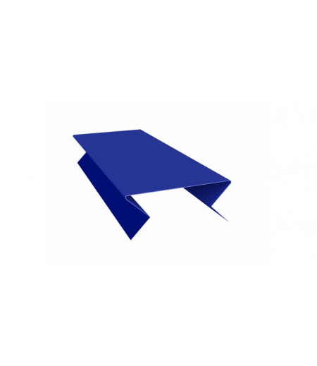 Планка угла внешнего составная нижняя 0,45 PE с пленкой RAL 5002 ультрамариново-синий