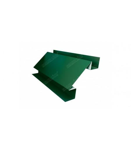 Планка угла внутреннего сложного Экобрус 0,5 Satin с пленкой RAL 6005 зеленый мох