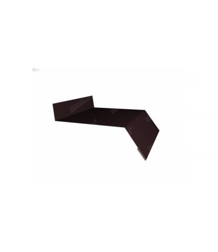 Отлив простой 250 0,4 PE с пленкой RAL 8017 шоколад