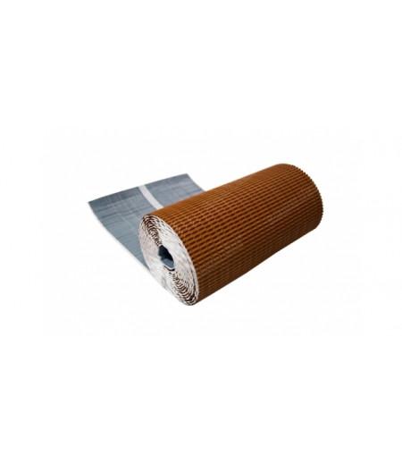 Лента для примыкания гофрированная алюминиевая GRAND LINE кирпичный (2,5м)