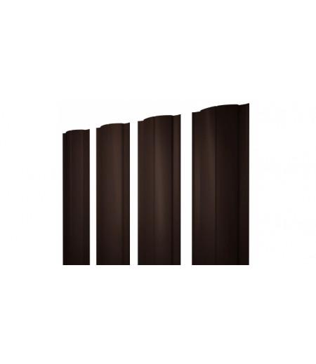 Штакетник Круглый 0,4 PE RAL 8017 шоколад