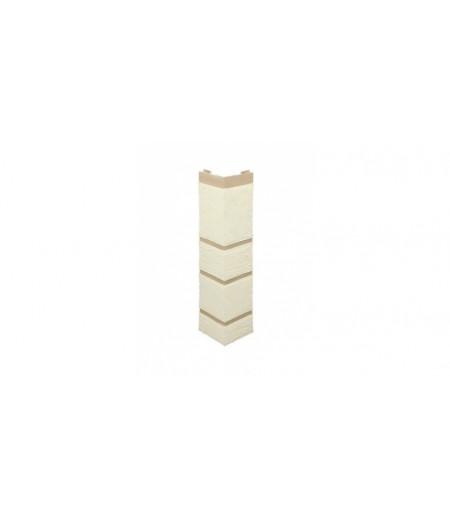 Угол наружный Альта-Профиль, камень (белый), 0,47 х 0,11м
