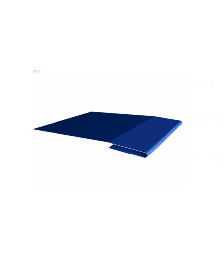 Планка начальная 0,45 PE с пленкой RAL 5005 сигнальный синий