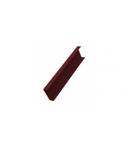 Декоративная накладка на столб 0,45 Drap RAL 3005 красное вино