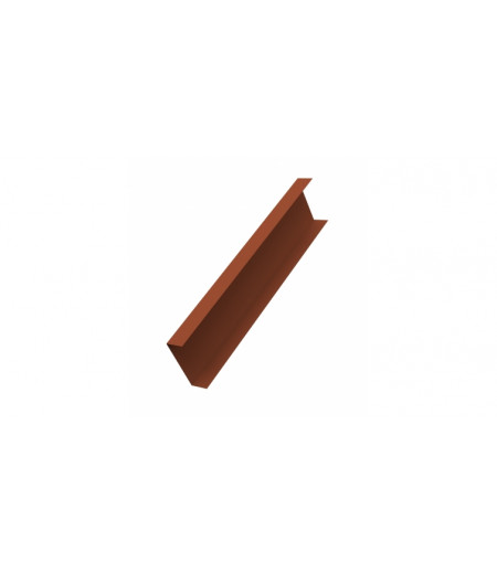 Декоративная накладка на столб 0,45 Drap RAL 8004 терракота