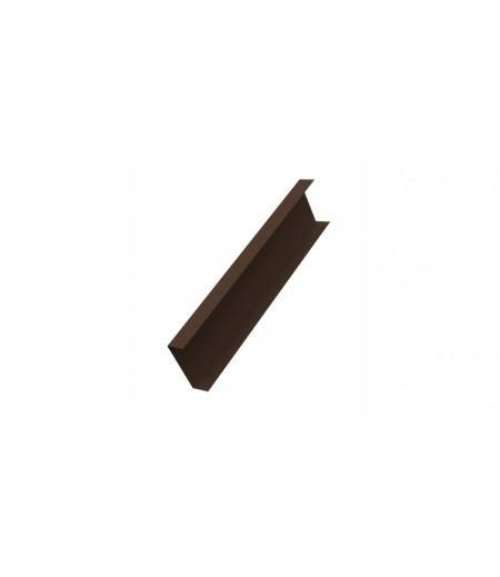 Декоративная накладка на столб 0,45 Drap RAL 8017 шоколад