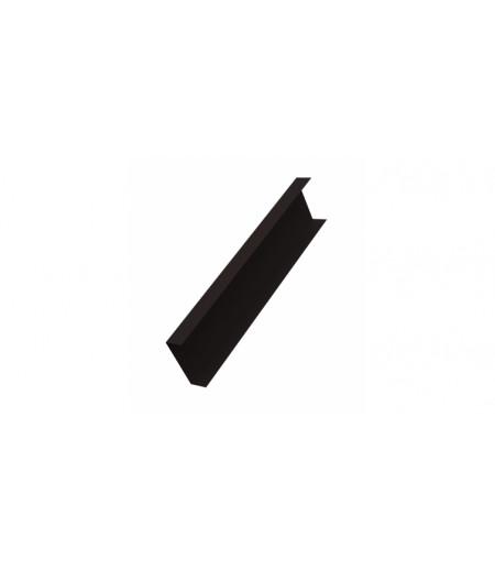 Декоративная накладка на столб 0,45 Drap RAL 9005 черный