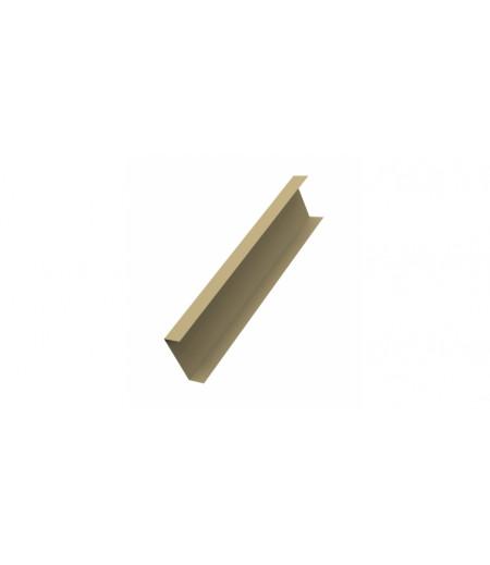 Декоративная накладка на столб 0,45 PE с пленкой RAL 1014 слоновая кость