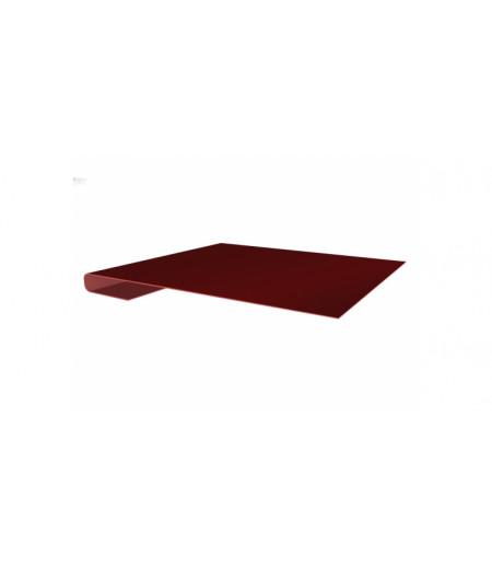 Планка завершающая 0,45 PE с пленкой RAL 3009 оксидно-красный