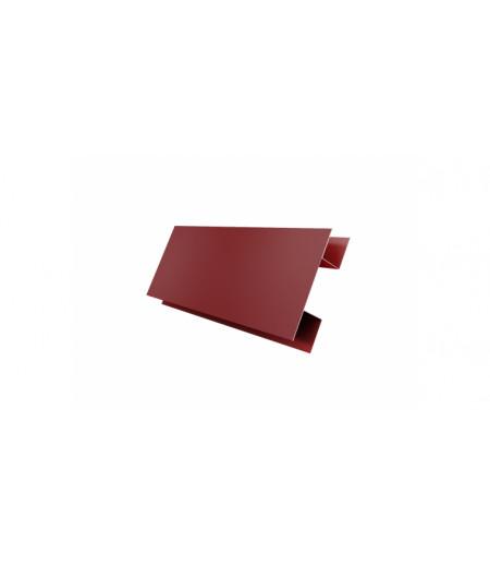 Планка H-образная 0,45 PE с пленкой RAL 3009 оксидно-красный