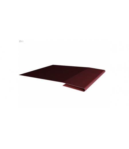 Планка начальная 0,45 PE с пленкой RAL 3009 оксидно-красный