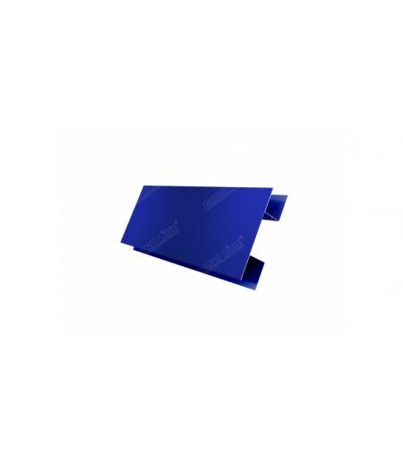 Планка H-образная 0,45 PE с пленкой RAL 5002 ультрамариново-синий