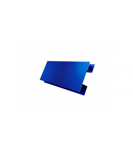 Планка H-образная 0,45 PE с пленкой RAL 5005 сигнальный синий