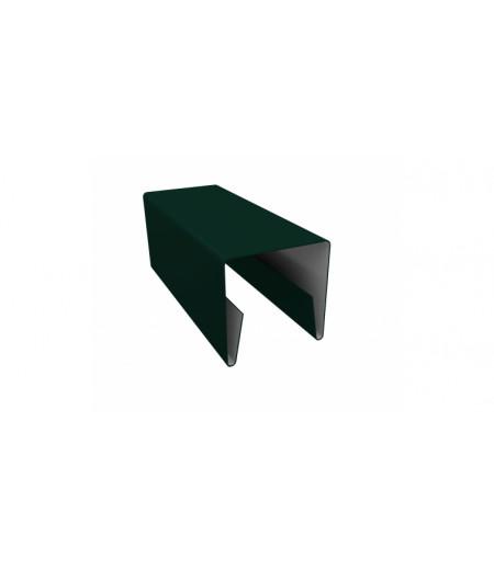 Планка П-образная заборная 20 0,4 PE с пленкой RAL 6005 зеленый мох