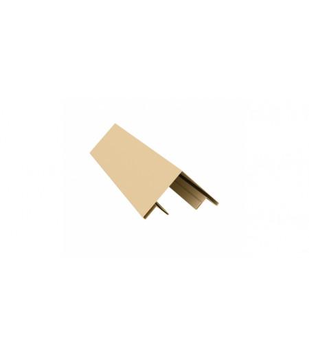 Планка угла внешнего составная верхняя 0,45 PE с пленкой RAL 1014 слоновая кость