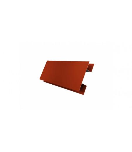Планка H-образная 0,45 PE с пленкой RAL 2004 оранжевый